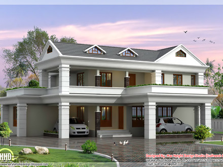 2 Storey House Design Plan Residential 2 Storey House Plan