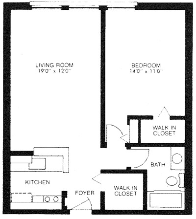 600 sq ft apartment floor plan 500 sq ft apartment house for 500 square feet floor plan