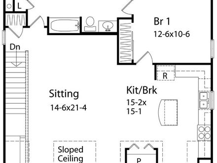 One-Bedroom Cottage Home Plans One Bedroom Home Plans