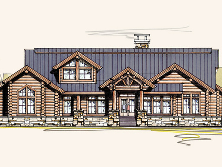 Rustic log cabin home plans old rustic cabins log and for Log home plans texas