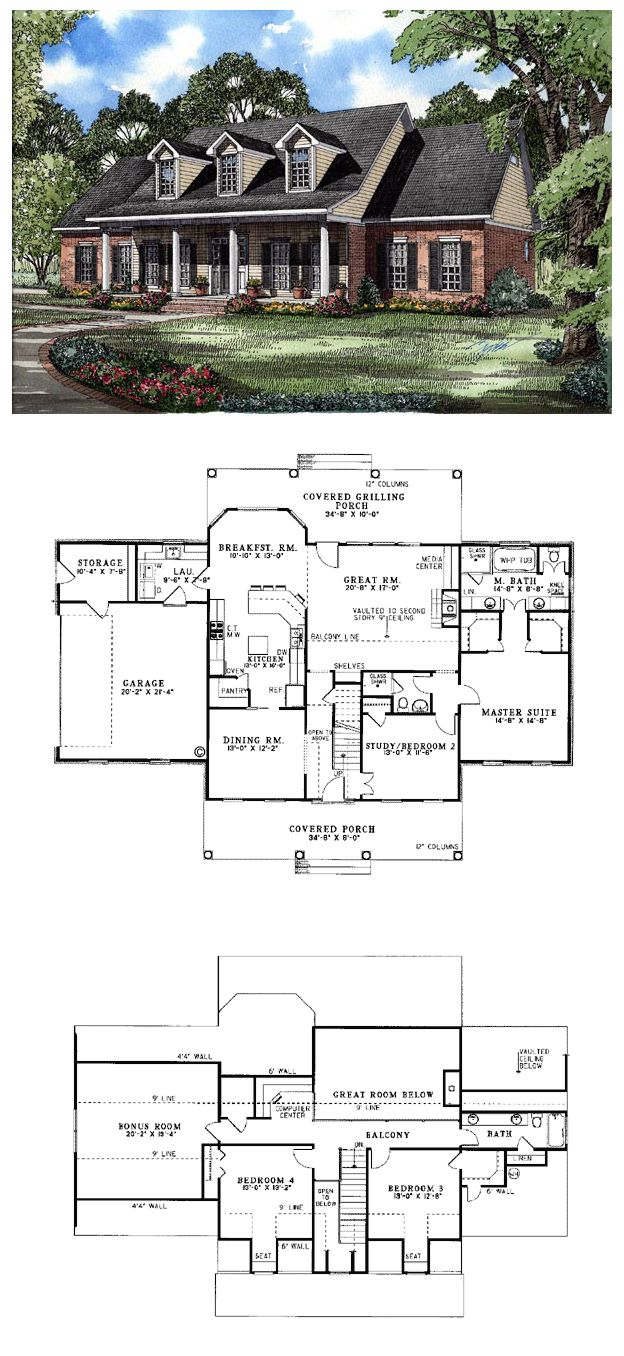 Two story house plans with master on main unique two story for Unique 2 story house plans
