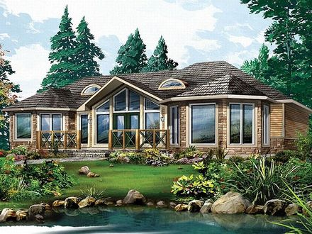 Open Concept Cottage Homes Country Home Plans Open-Concept