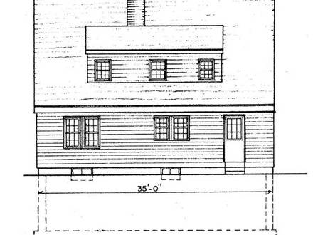 Saltbox house plans small saltbox home plans salt box for Saltbox house plans designs