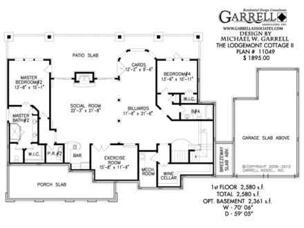 2 Bedroom House Plans Simple House Plans with Basements