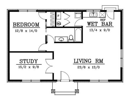 2 bedroom house plans under 1000 square feet 2 bedroom for Cottages under 1000 square feet