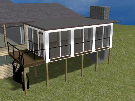 Building a shed roof porch porch plans shed roof porch for Single roof line house plans