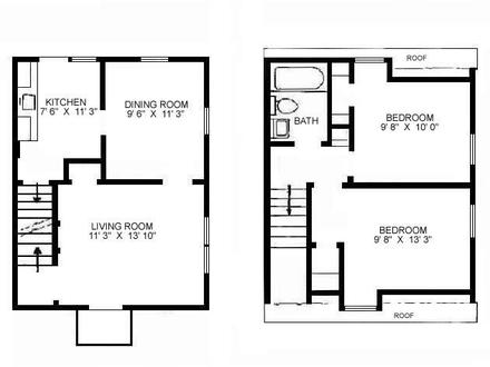 Narrow Duplex House Plans Small Duplex Floor Plans