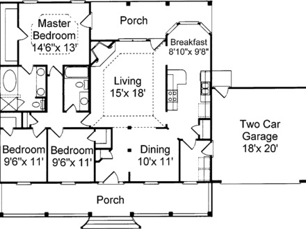 Simple small house floor plans 3 bedroom simple small for Small modern house plans under 2000 sq ft