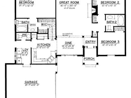 3 Bedroom House 1500 Sq Ft House Plans