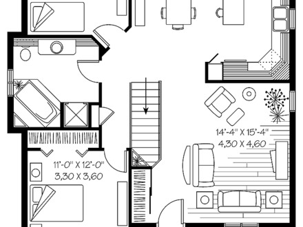 Simple One Story House Plan Small One Story House