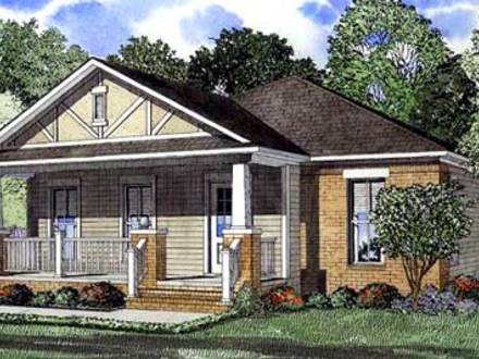 Single story craftsman style homes american bungalow style for American cottage style homes