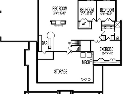 Master Bedroom House Plans 2 2 Bedroom House Plans with Basement