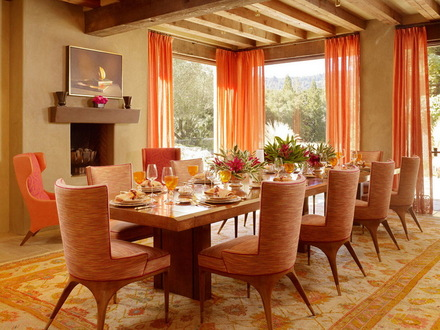 Traditional Dining Room Decorating Ideas Orange Dining Room Decorating