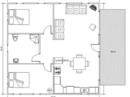30X30 House Floor Plans 30 X 50 Ranch House Plans