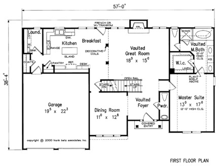 House Plans With Vaulted Great Rooms One Story Square