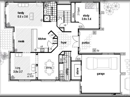 Low cost housing floor plan low cost home building kits for Low cost home plans to build