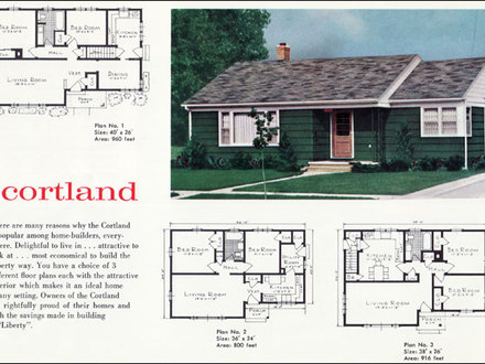 Brick colonial house styles colonial southern house 1960 for 1960 ranch house plans