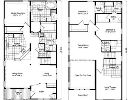 Two story house floor plans two floor house plans two for 2 story townhouse plans