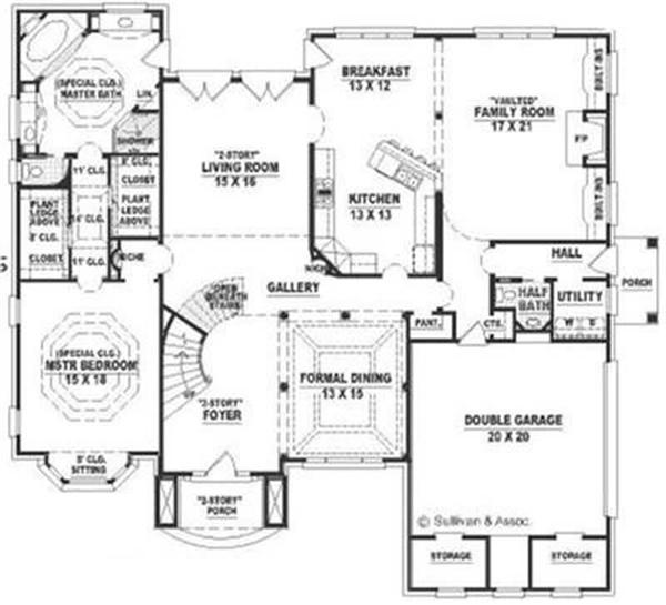 Modern colonial floor plans 2 story colonial floor plans for Two story colonial house plans