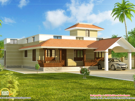 single storey house design plan single roof house 1 story houses. Black Bedroom Furniture Sets. Home Design Ideas