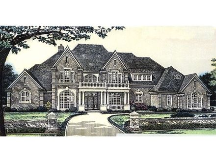 Two Story House Plan Large Two-Story House Plans