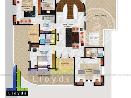 3D 5 Bedroom House Floor Plans 4