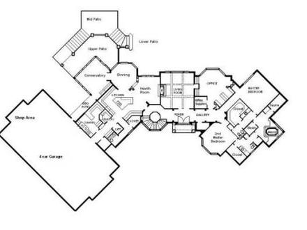 House Floor Plans with Dimensions Single Floor House Plans ...