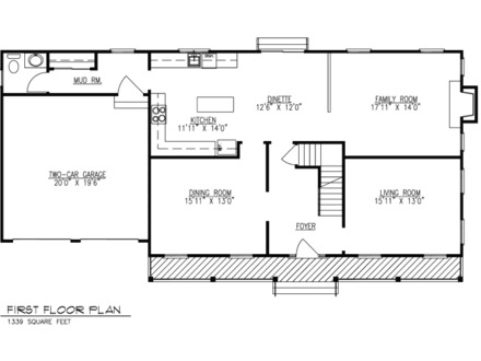 First Colonial Open Floor Plans Colonial Time Floors