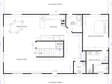 Floor Plans for Ranch Homes Free House Floor Plan Examples