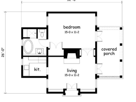 Southern living cabin house plans small cottage plans for Backyard cottage floor plans