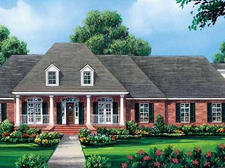 1 Story Colonial House Plans Simple One Story Houses