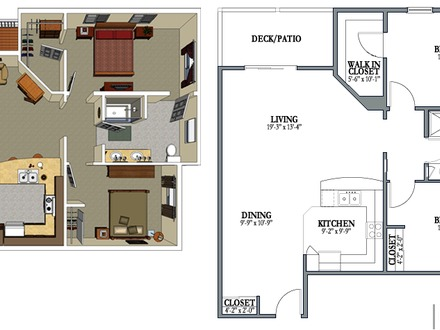 Narrow 3 bedroom house plans 3 bedroom house with garage for 2 bedroom 2 bath garage apartment plans