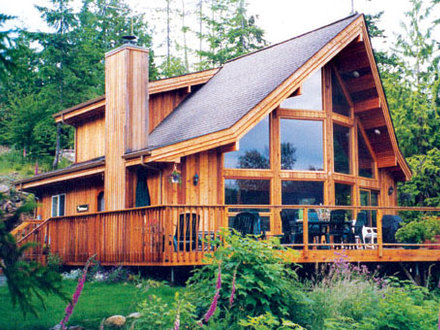 Cedar post and beam home plans cedar porch posts chalet for Post and beam ranch homes