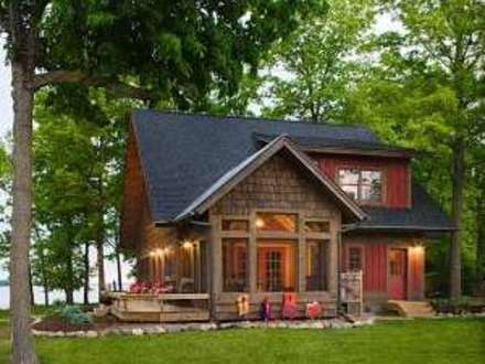 Mountain log cabin porches simple log cabin mountain for Weekend cabin plans