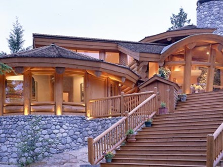 Log cabin homes with pools log cabin home logcabinhomes for Luxury cabin designs