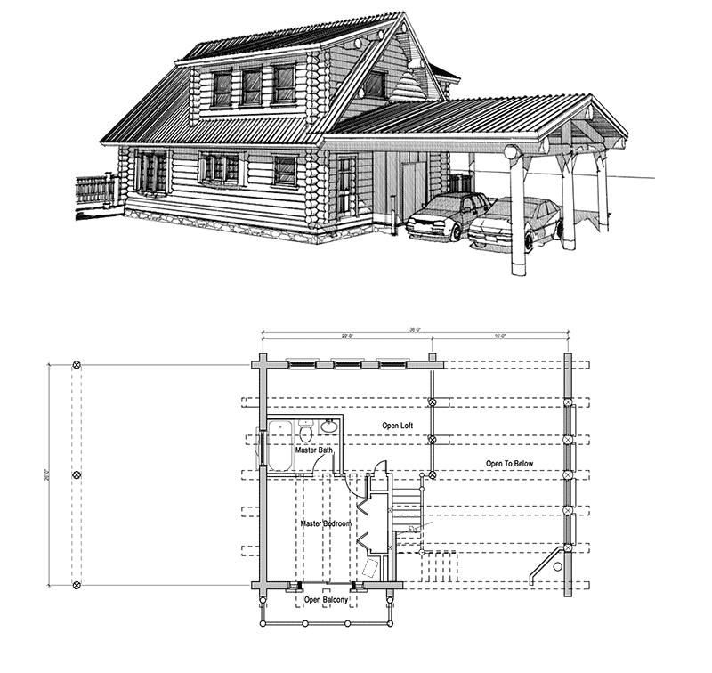 22 Beautiful Wood Cabins And Small House Designs For Diy: Small Log Cabin Floor Plans With Loft Rustic Log Cabins