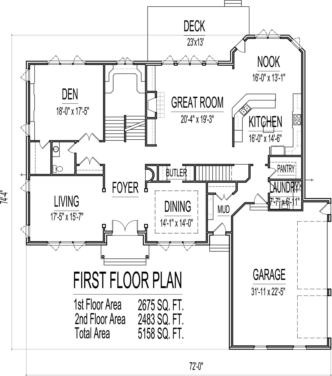 5000 sq ft house floor plans 1500 sq ft house 2 story 5 for 15000 square foot house plans