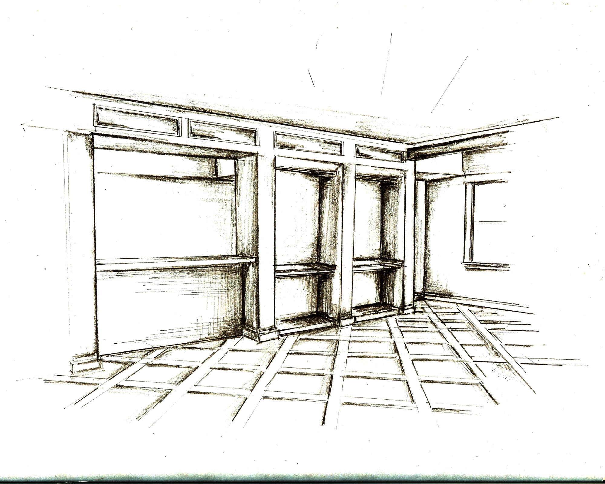 Tsunami Sketch Room Interior Design Sketch, Build Your Own