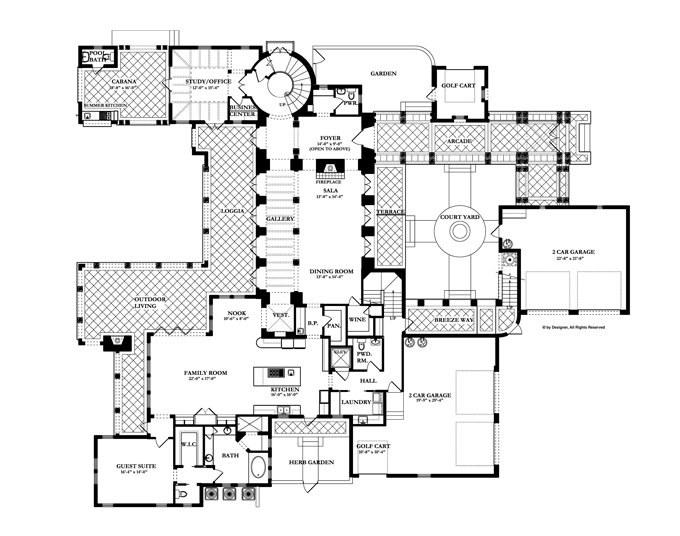 spanish floor plans revival floor plans fireplace dimensions floor 14992
