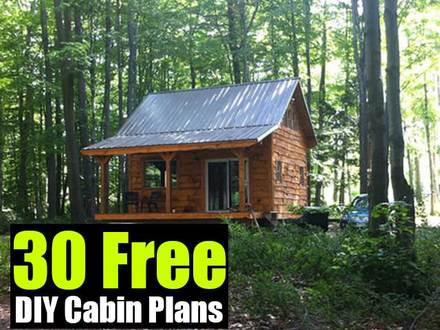 Fishing hunting cabin plans rustic cabin plans hunting for Fishing cabin plans