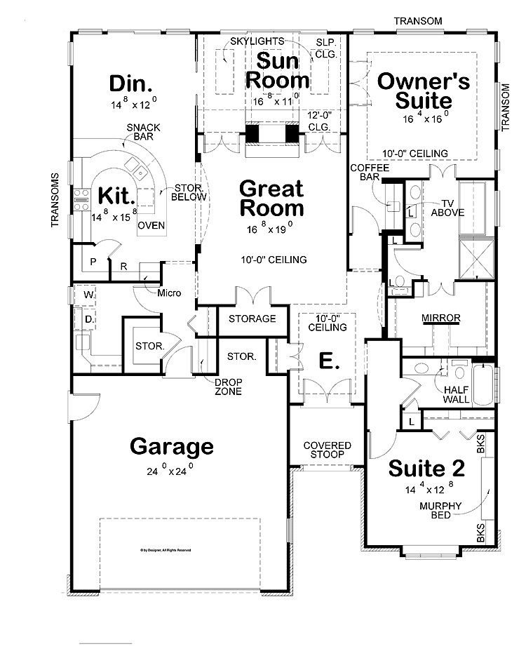 Modern Two Bedroom House Plans Modern Two Bedroom House Plans
