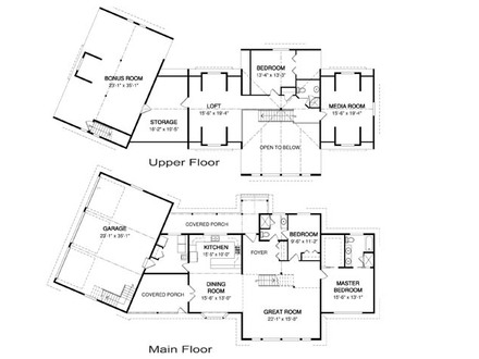 Craftsman Home Floor Plans Craftsman One Story Floor Plans