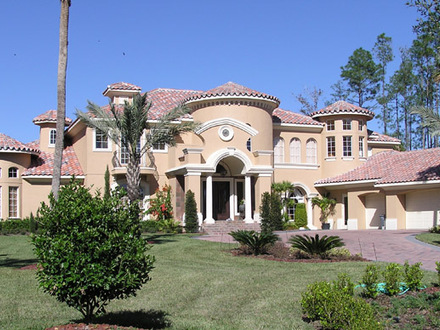 Mediterranean style houses for Single story mediterranean style homes