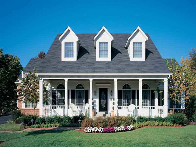 Ranch style house american colonial style homes colonial for Colonial ranch house plans