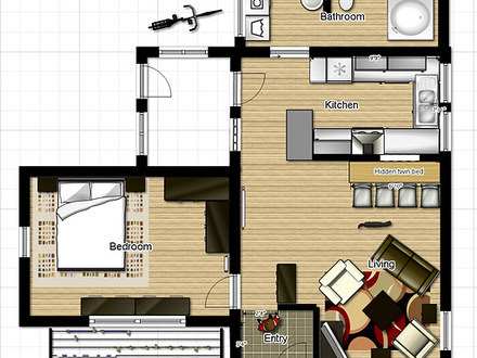 Small Homes and Cottages Small One Bedroom House Floor Plans