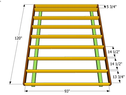 Building a Shed Floor Frame 10X16 Shed Plywood Floor Layout