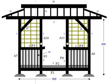 Traditional japanese house plans traditional japanese for Japanese tea house floor plans