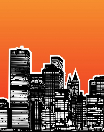 Modern city building design vector Free vector in Encapsulated Modern House City