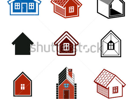 Small Cottages Simple cottages collection, real estate and construction theme Houses