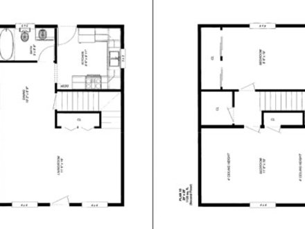 Simple small house floor plans cottage house floor plans for Simple cabin plans 24 by 24